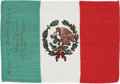 Explorers:Space Exploration, Apollo 13 Flown National Flag of Mexico Directly from the PersonalCollection of Mission Commander James Lovell, Certified and...