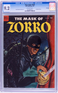 Four Color #538 The Mask of Zorro - File Copy (Dell, 1954) CGC NM- 9.2 Off-white pages