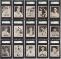 Baseball Cards:Sets, 1939 Play Ball Baseball High Grade SGC Near Set (150/162)....
