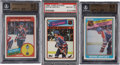 Hockey Cards:Lots, 1980's Topps & O-Pee-Chee Wayne Gretzky Gem Mint Trio (3)....