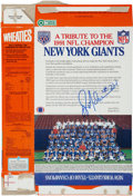 Football Collectibles:Others, 1991 Ottis Anderson Signed New York Giants Wheaties Box. ...