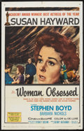"""Movie Posters:Romance, Woman Obsessed (20th Century Fox, 1959). One Sheet (27"""" X 41""""). Romance.. ..."""