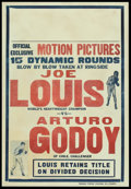 "Movie Posters:Sports, Joe Louis vs. Arturo Godoy Fight (Triangle Poster Printing, 1940). Poster (28"" X 41""). Sports.. ..."