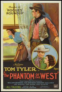 """The Phantom of the West (Mascot, 1931). One Sheet (27"""" X 41"""") Chapter 10 -- """"Rogues' Roundup"""". Seria..."""