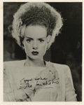 "Movie/TV Memorabilia:Autographs and Signed Items, Elsa Lanchester Signed ""Bride of Frankenstein"" Photo. A b&w 8""x 10"" photo of Lanchester in the title role of 1935 sequel, i..."