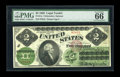 Large Size:Legal Tender Notes, Fr. 41a $2 1862 Legal Tender PMG Gem Uncirculated 66 EPQ....