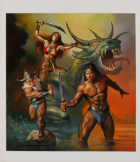 "Boris Vallejo - ""Golden Axe II"" Video Game Cover Painting Original Art (Sega, 1989)"