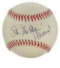 """Autographs:Baseballs, Stan """"The Man"""" Musial Single Signed Baseball. The Cardinals' bighit slugger Stan Musial has signed the provided ONL (White..."""