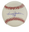 Autographs:Baseballs, Reggie Jackson Single Signed Baseball. Mr. October has depositedhis desirable autograph to the offered OML ball. Signature ...