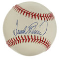Autographs:Baseballs, Frank Robinson Single Signed Baseball. Two-time MVP and Hall ofFamer Frank Robinson provides us with the excellent sweet s...