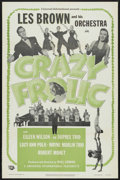 "Movie Posters:Short Subject, Crazy Frolic (Universal, 1953). One Sheet (27"" X 41""). ShortSubject. Starring Les Brown and His Orchestra, Wayne Marlin, Ro..."
