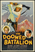 "Movie Posters:War, The Doomed Battalion (Universal, 1932). One Sheet (27"" X 41""). War.. ..."