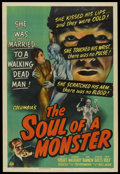 """Movie Posters:Horror, The Soul of a Monster (Columbia, 1944). One Sheet (27.5"""" X 41""""). Horror.. ..."""