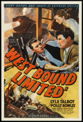 """Movie Posters:Mystery, West Bound Limited (Universal, 1937). One Sheet (27"""" X 41""""). Mystery.. ..."""