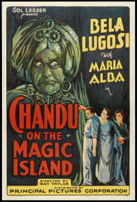"Chandu on the Magic Island (Principal Distributing, 1935). One Sheet (27"" X 41""). Adventure"