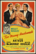 "Movie Posters:Comedy, Too Many Husbands (Columbia, 1940). One Sheet (27"" X 41"") Style A. Comedy.. ..."