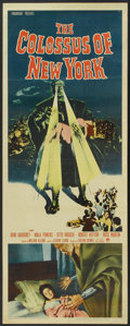 """Movie Posters:Science Fiction, The Colossus of New York (Paramount, 1958). Insert (14"""" X 36""""). Science Fiction.. ..."""