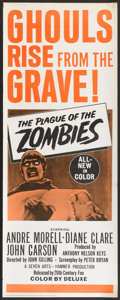 """Movie Posters:Horror, The Plague of the Zombies (20th Century Fox, 1966). Insert (14"""" X 36""""). Horror.. ..."""