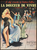 "Movie Posters:Drama, La Dolce Vita (Consortium Pathe, 1960). French Petite (15.5"" X 21""). Drama.. ..."