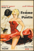 "Movie Posters:Bad Girl, A Woman Like Satan (Pathe, 1958). French Petite (15.5"" X 23.5"").Bad Girl.. ..."