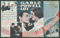 """Movie Posters:Crime, Manhattan Melodrama Lot (MGM, 1934). Heralds (2) (6.75"""" X 7"""" and 4.5"""" X 6""""). Crime.. ... (Total: 2 Items)"""
