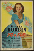 "Movie Posters:Musical, It's a Date (Universal, 1940). One Sheet (27"" X 41"") Style C. Musical.. ..."