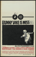 """Movie Posters:Mystery, Bunny Lake is Missing (Columbia, 1965). Window Card (14"""" X 22""""). Mystery.. ..."""