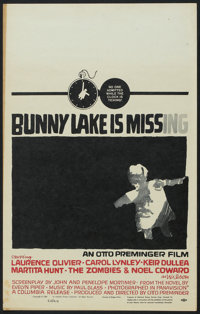 """Bunny Lake is Missing (Columbia, 1965). Window Card (14"""" X 22""""). Mystery"""