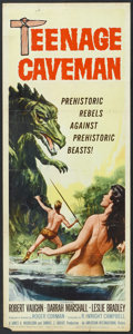 "Movie Posters:Science Fiction, Teenage Caveman (American International, 1958). Insert (14"" X 36""). Science Fiction.. ..."