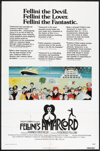 """Amarcord (New World and Warner Brothers, 1974). One Sheet (27"""" X 41"""") and Lobby Cards (4) (11"""" X 14""""..."""
