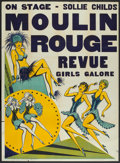 "Movie Posters:Comedy, Moulin Rouge Revue (Unknown, 1930s). Stage Show Poster (41"" X 56""). Musical Comedy.. ..."