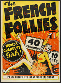 """The French Follies (Unknown, 1930s). Stage Show Poster (41"""" X 56""""). Musical"""