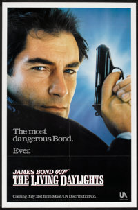 """The Living Daylights (United Artists, 1986). One Sheet (27"""" X 41"""") Advance and Mini Poster (11.75"""" X 17.5..."""