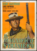 "Movie Posters:Western, The Magnificent Stranger (Unidis, 1966). Italian 2 - Folio (39"" X 55""). Western.. ..."