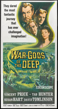 """Movie Posters:Science Fiction, War Gods of the Deep (American International, 1965). Three Sheet (41"""" X 81""""). Science Fiction.. ..."""