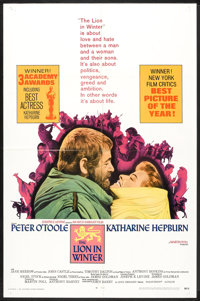 """The Lion in Winter (Avco-Embassy, 1969). One Sheet (27"""" X 41"""") Academy Award Style, Lobby Card (11"""" X 14&..."""