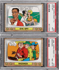 "Non-Sport Cards:Singles (Post-1950), 1969 Topps Test ""Crazy T.V."" PSA-Graded Pair (2)...."