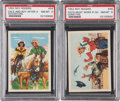 Non-Sport Cards:Singles (Post-1950), 1952 Post Cereal Roy Rogers Graded NM-MT 8 Pair (2). ... (Total: 2cards)
