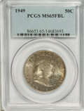 Franklin Half Dollars: , 1949 50C MS65 Full Bell Lines PCGS. PCGS Population (736/144). NGC Census: (252/30). Numismedia Wsl. Price for NGC/PCGS co...