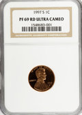 Proof Sets, 1997-S 1C Set of Five Proof Coins PR69 Ultra Cameo NGC. This Set Includes: 1997-S Lincoln Cent PR 69 RD Ultra Cameo,1997-S ... (Total: 5 coins)