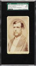Baseball Cards:Singles (Pre-1930), 1872 Boston Red Stockings CDV Harry Wright SGC Authentic - From theGeorge Wright Collection. ...