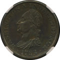Colonials, 1783 1C Washington & Independence Cent, Draped Bust, No Button,Copper Restrike, Engrailed Edge PR62 Brown NGC. Accompanie...