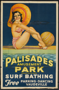 "Palisades Amusement Park (Berkshire Printing, 1937). Advertising Poster (30"" X 40.5""). Sports"