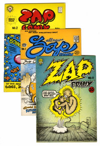 Zap Comix Group (Apex Novelties, 1970s).... (Total: 9 Comic Books)