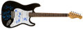 Music Memorabilia:Autographs and Signed Items, REO Speedwagon Band-Signed Guitar....