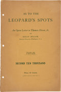 Books:Pamphlets & Tracts, Kelly Miller. As to the Leopard's Spots: An Open Letter toThomas Dixon, Jr. Washington, D.C.: Hayworth Publishi...