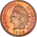 Proof Indian Cents, 1906 1C PR66 Red PCGS. CAC....
