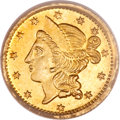 California Fractional Gold, 1860/56 50C Liberty Round 50 Cents, BG-1014, High R.4, MS65PCGS....