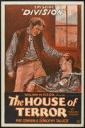 "Movie Posters:Serial, The House of Terror (William Pizor, 1928). One Sheet (27"" X 41"") Episode 7 -- ""Division"". Serial.. ..."