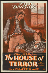 """The House of Terror (William Pizor, 1928). One Sheet (27"""" X 41"""") Episode 7 -- """"Division"""". Serial..."""